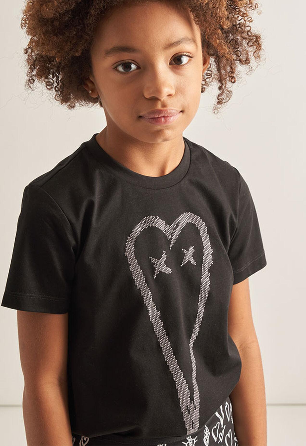 TSILYHEART, Nero - T-shirts e Tops