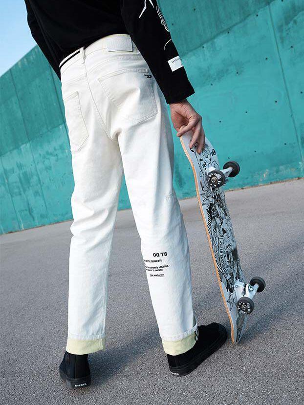 D-Macs 069MS, Weiß - Jeans