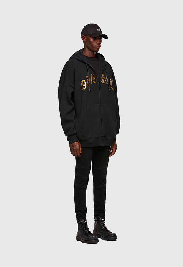S-OXI-ZIP-A1, Schwarz - Sweatshirts
