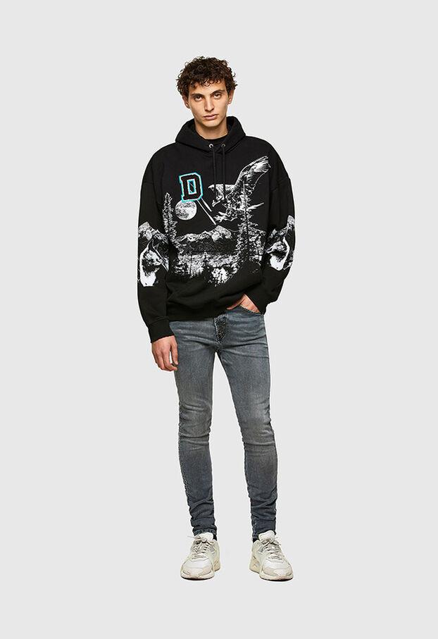 D-REEFT JoggJeans® 069RD, Nero/Grigio scuro - Jeans