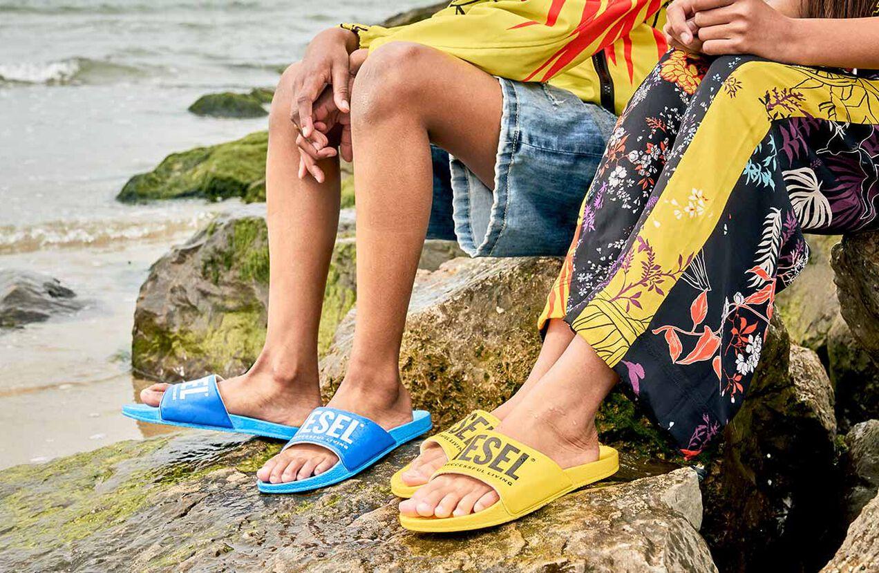 FF 01 SLIPPER CH, Gelb - Schuhe