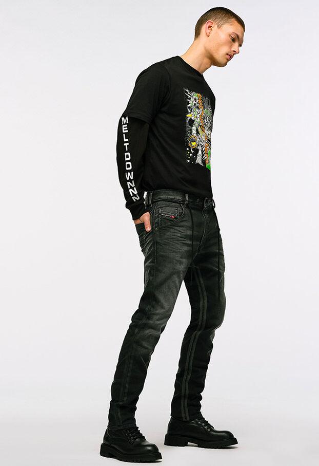 Krooley JoggJeans 0094Q, Schwarz/Dunkelgrau - Jeans