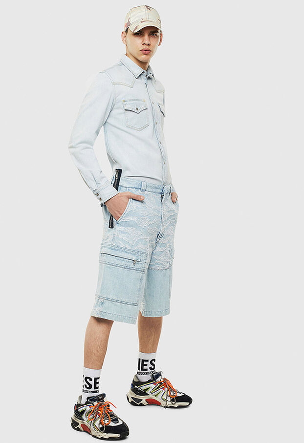 D-EAST-P, Jeansblau - Denimhemden