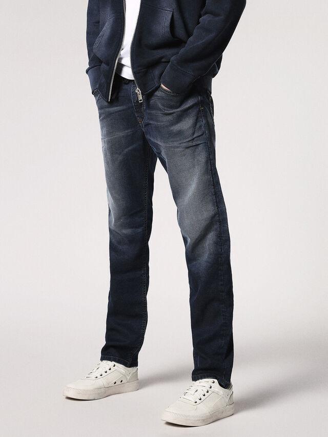 Diesel - Waykee JoggJeans 0683Y, Dunkelblau - Jeans - Image 1