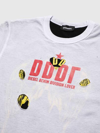 Diesel - TJUSTLAY, Weiß/Schwarz - T-Shirts und Tops - Image 3