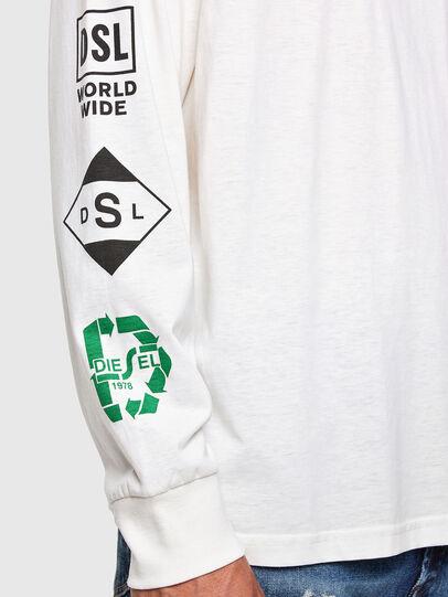 Diesel - T-JUST-LS-N60, Weiß - T-Shirts - Image 3