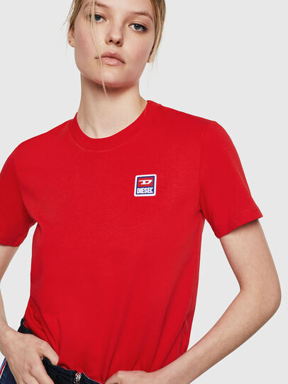 Diesel - T-SILY-ZE, Feuerrot - T-Shirts - Image 3