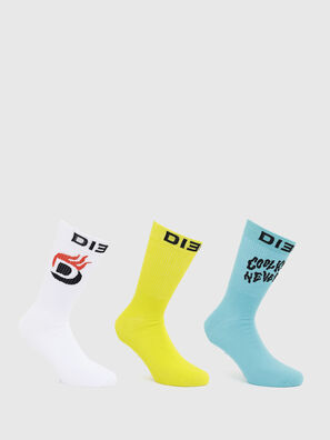 SKM-RAY-THREEPACK, White/Blue - Socks