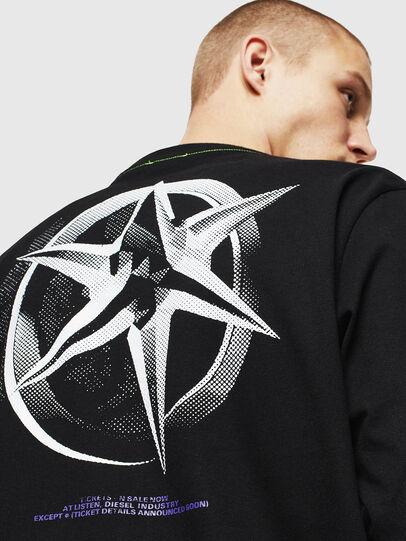 Diesel - T-JUST-LS-VINT, Schwarz/Weiß - T-Shirts - Image 5