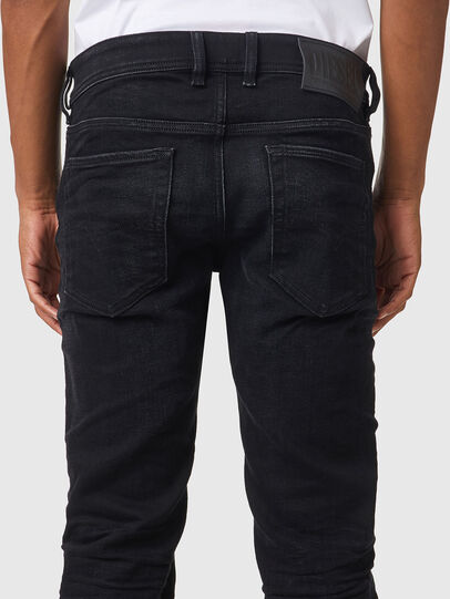 Diesel - Sleenker 09A75, Nero/Grigio scuro - Jeans - Image 4
