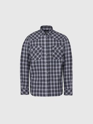 S-EAST-LONG-O, Schwarz/Weiß - Hemden