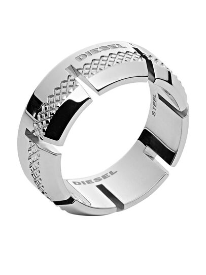 Diesel - RING DX1028, Silber - Ringe - Image 1