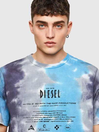 Diesel - T-JUST-E13, Gris/Bleu - T-Shirts - Image 3