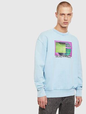 S-BIAY-FLUO, Azurblau - Sweatshirts