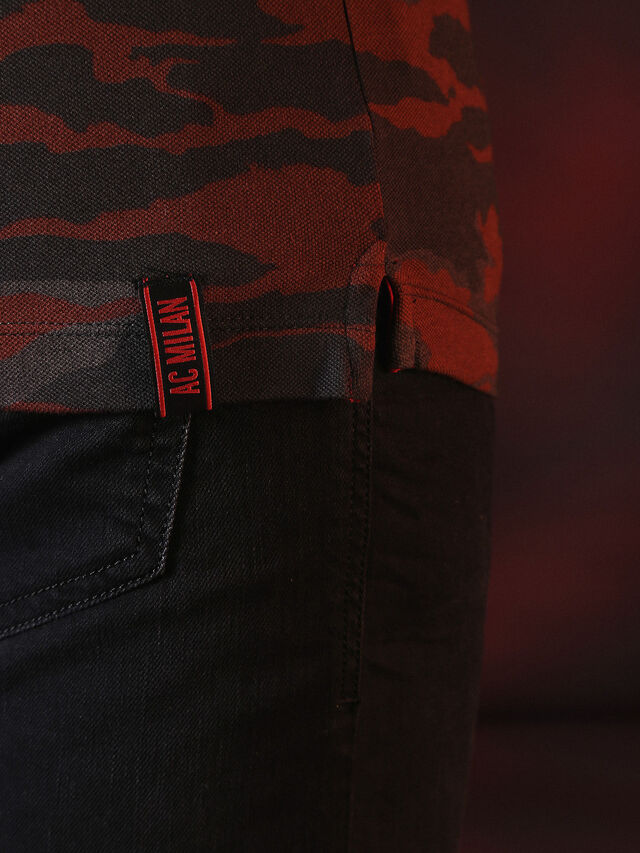 Diesel - DVL-POLO-SPECIAL COLLECTION, Rot/Schwarz - Polohemden - Image 7