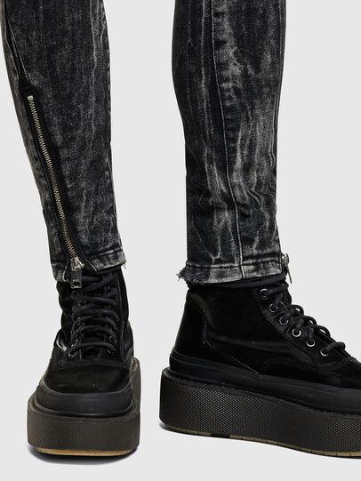 Diesel - D-Jevel 009PX, Nero/Grigio scuro - Jeans - Image 4