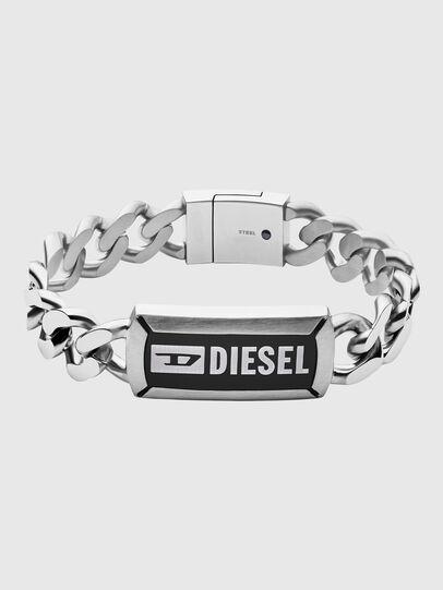 Diesel - DX1242, Gris argenté - Bracelets - Image 1
