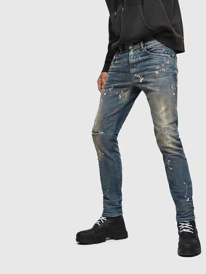 Diesel - Thommer JoggJeans 0870X, Mittelblau - Jeans - Image 5