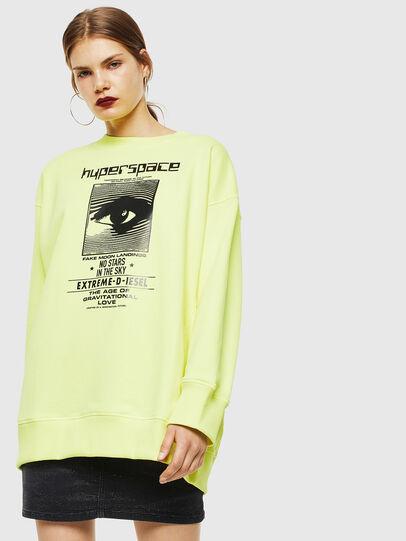 Diesel - F-AKUA, Neongelb - Sweatshirts - Image 1