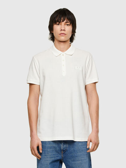 Diesel - T-WEET-E1, Blanc - Polos - Image 1