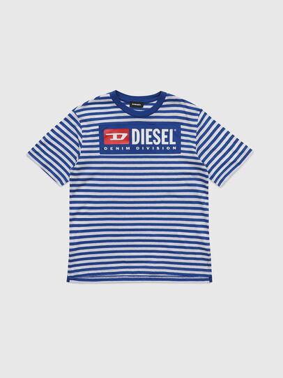 Diesel - TVIKTOR OVER, Blau/Weiß - T-Shirts und Tops - Image 1