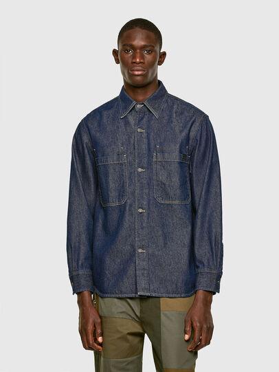 Diesel - D-RAPP, Bleu Foncé - Chemises en Denim - Image 1
