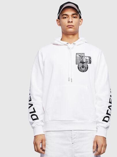 Diesel - S-GIRK-HOOD-S4, Weiß - Sweatshirts - Image 1