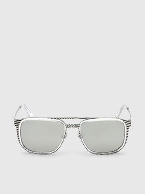 DL0294, Weiß/Schwarz - Sonnenbrille