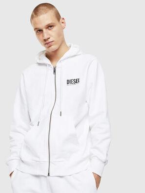 S-GIRK-HOOD-ZIP-LOGO, Weiß - Sweatshirts