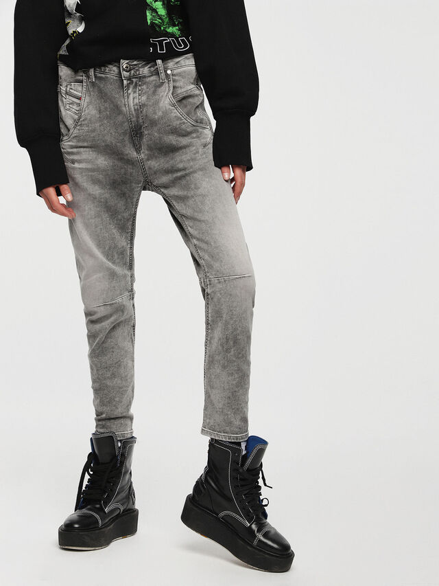 Diesel - Fayza JoggJeans 0855B, Hellgrau - Jeans - Image 1