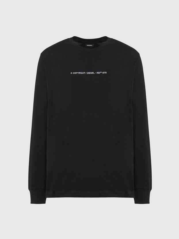 T-JUST-LS-X93, Schwarz - T-Shirts