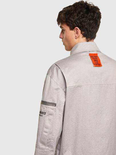 Diesel - J-THOMPSON-A, Light Grey - Jackets - Image 4