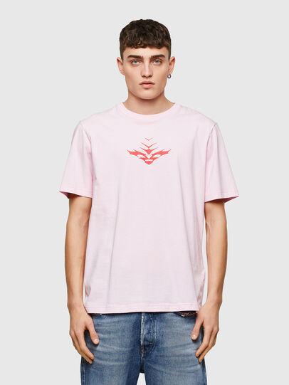 Diesel - T-JUST-E14, Rose Poudré - T-Shirts - Image 1