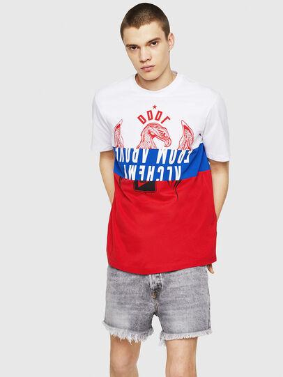 Diesel - T-JUST-A1, Weiß/Rot/Blau - T-Shirts - Image 4