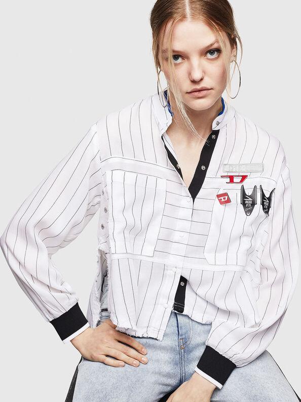 C-SUPER-D, Weiß - Hemden