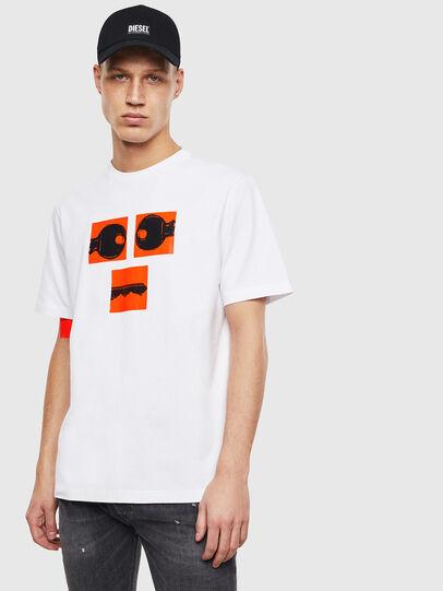 Diesel - T-JUST-T23, Weiß - T-Shirts - Image 1