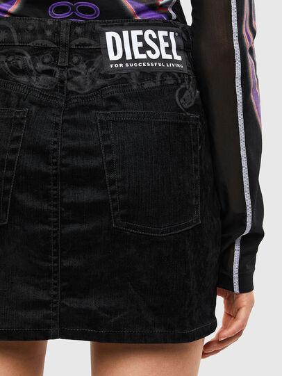 Diesel - DE-FREESIA-SP, Noir - Jupes - Image 5