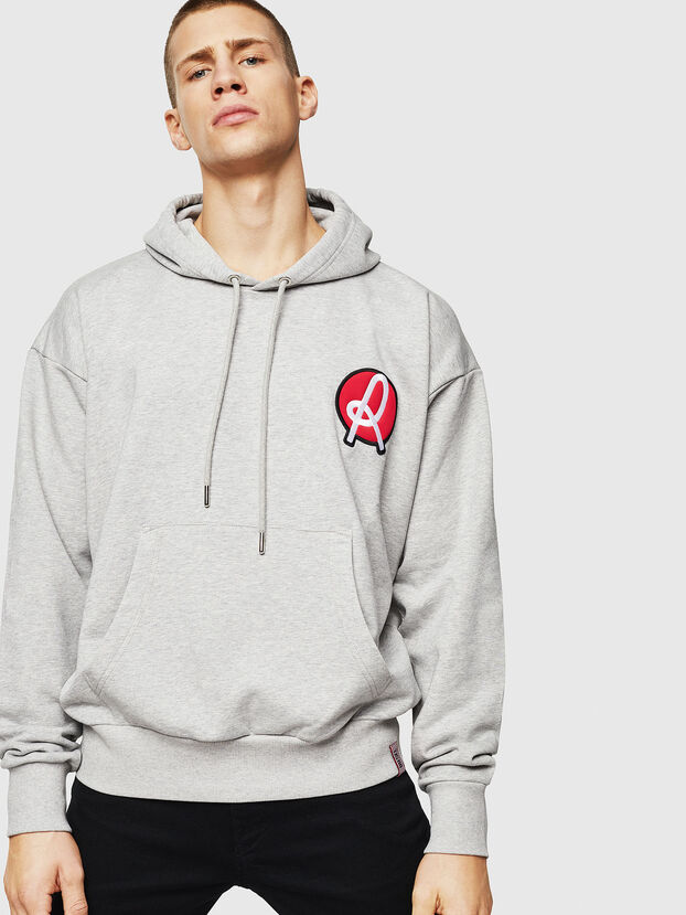 LR-S-GIRK-HOOD-VIC, Grau - Sweatshirts