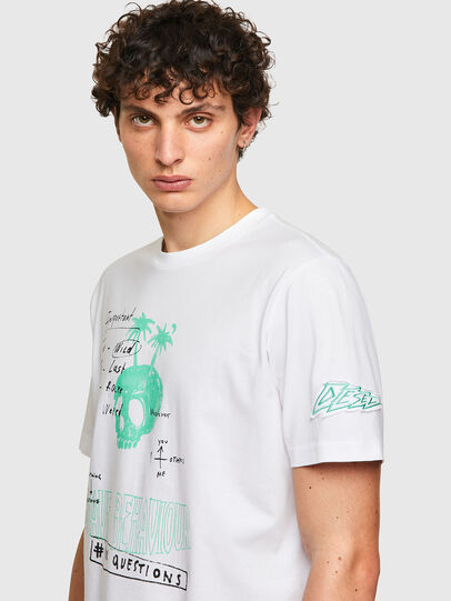 Diesel - T-JUST-B61, Bianco - T-Shirts - Image 5