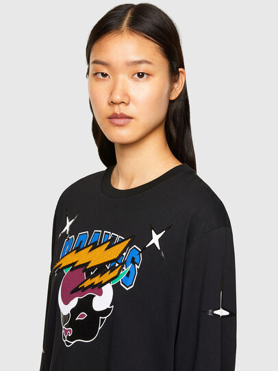 Diesel - CL-T-JUST-LS-O, Nero - T-Shirts - Image 6