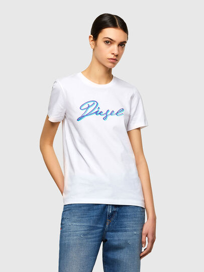 Diesel - T-SILY-K10, Blanc - T-Shirts - Image 1