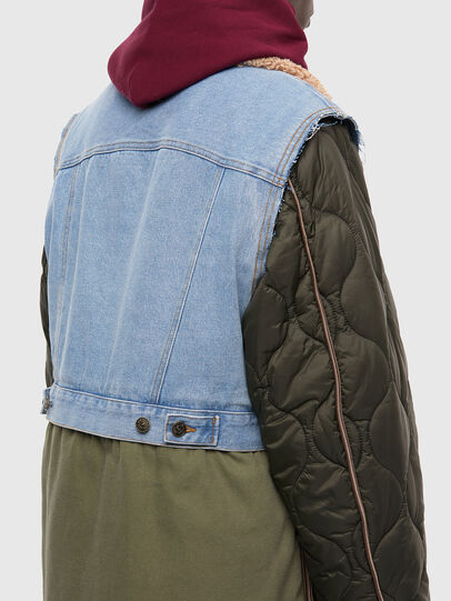 Diesel - W-SHAYL, Verde Militare - Giacche invernali - Image 5