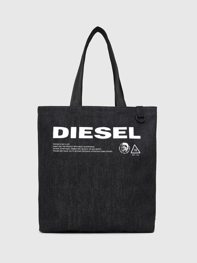 Diesel - F-THISBAG SHOPPER NS, Dunkelblau - Shopper und Schultertaschen - Image 1