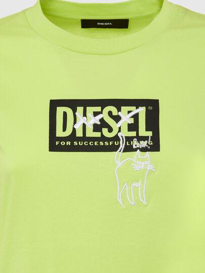 Diesel - T-SILY-E52, Neongrün - T-Shirts - Image 3