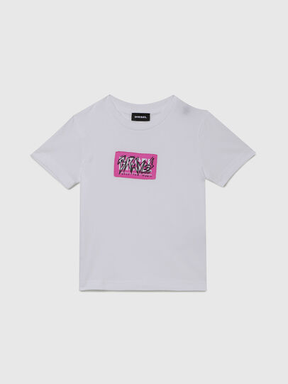 Diesel - TJUSTX62B-R, Blanc - T-shirts et Hauts - Image 1