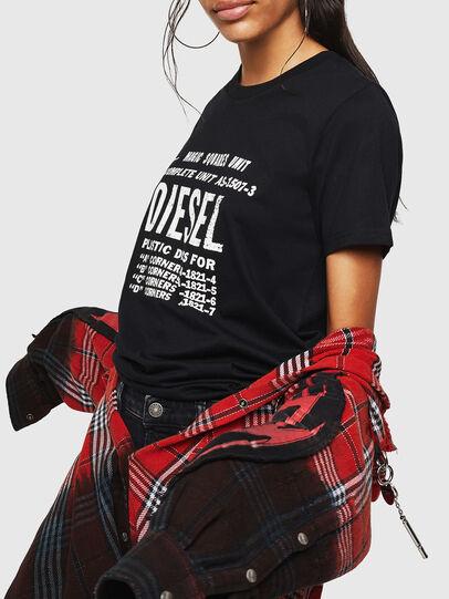 Diesel - T-SILY-ZF, Schwarz - T-Shirts - Image 5