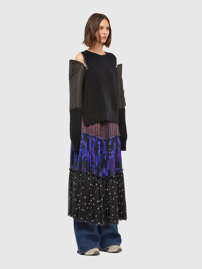 Diesel - M-CLARE, Noir - Pull Maille - Image 6