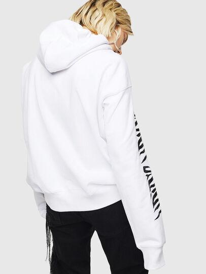 Diesel - F-ALBYHOOK-C, Weiß - Sweatshirts - Image 2
