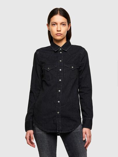 Diesel - DE-RINGY, Noir - Chemises en Denim - Image 1