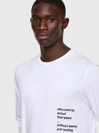 Diesel - T-JUST-LS-A30, Blanc - T-Shirts - Image 3